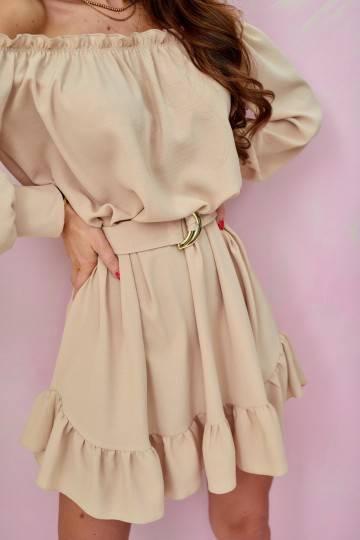 Sukienka 0285 BEJ