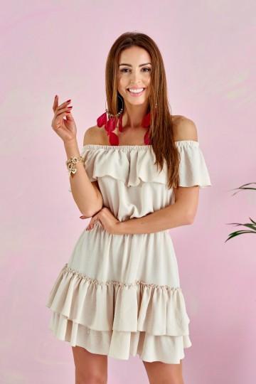 Sukienka 0291 BEJ