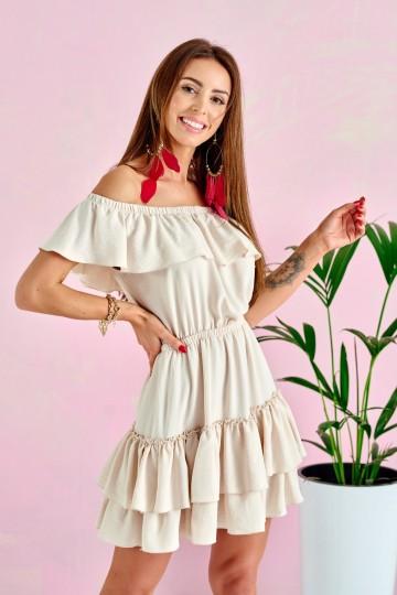 Sukienki 0291 BEJ