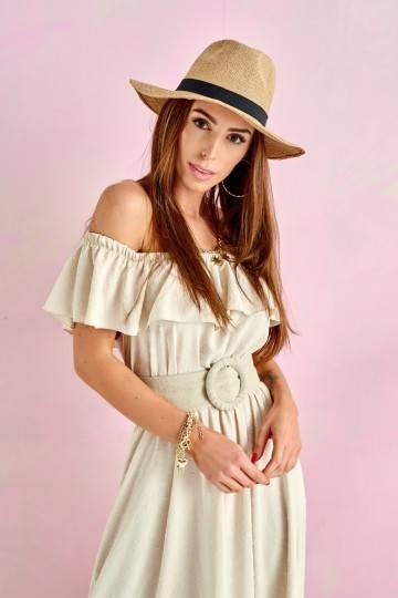 Sukienka 0334 BEJ